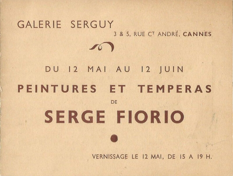 Invitation Cannes 1942