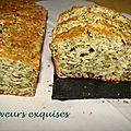 Cake à la roquette, aux noix et aux pistaches