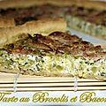 Tarte au brocolis et bacon