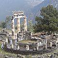 grèce delphes la ronde des colonnes d'athina