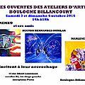 Exposition portes ouvertes boulogne billancourt - 3 et 4 octobre 2015