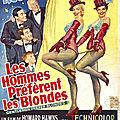 Les <b>affiches</b> de Gentlemen Prefer Blondes