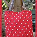 tote bag étoile rouge