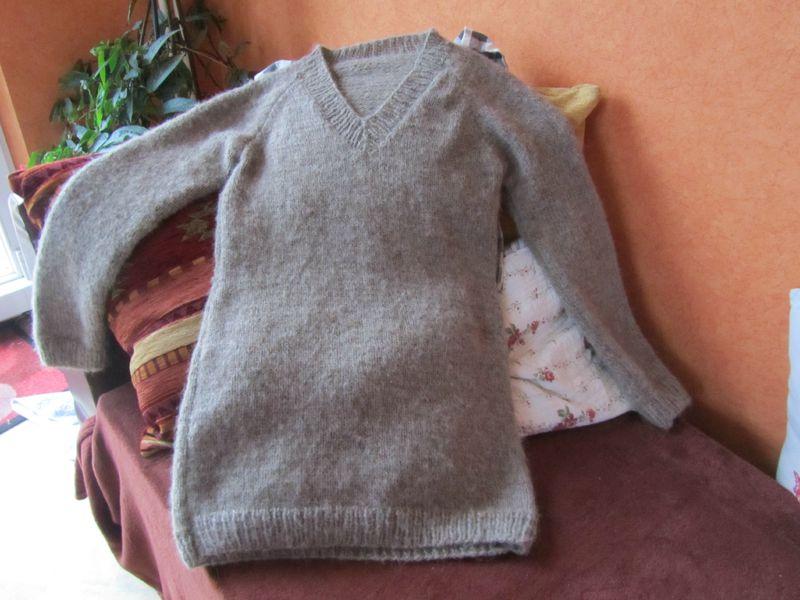 Explication tricot pull femme col v - Zizique.fr d93c7c79d2f