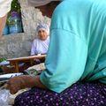 à SELIMIYE - confection du pain à la pension