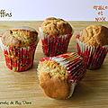 Mini-muffins à l'érable et aux noix, sans gluten et sans lactose