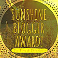 Sunshine <b>Blogger</b> Award