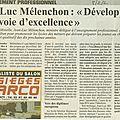 Quand m. mélenchon venait défendre l'enseignement professionnel en lorraine... en 2002