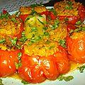 Tomates et courgette au riz safrané !