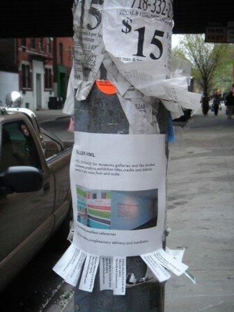 New York - petites annonces de rue