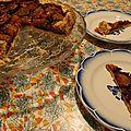 Tarte rustique aux quetsches & a l'eau de rose