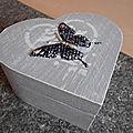 Réf. 325 Boîte à bijoux BUTTERFLY