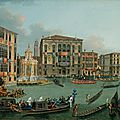 Vincenzo Chilone, The Regatta on the <b>Grand</b> <b>Canal</b>, Venice, looking towards the Palazzo Foscari and Palazzo Balbi