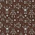 robot marron