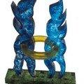 Amour toujours - Sculpture en pâte de verre contemporain