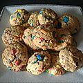 Cookies aux m&ms et flocons d avoine