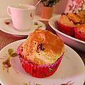 <b>Muffins</b> au beurre de cacahuètes crunchy et aux cranberry