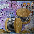 Challenge artjournal et gribouillages # 117 : fil