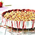 Crumble aux fraises noisettes et chocolat blanc