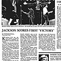Jackson scores first 'victory' - los angeles times, 9 juillet 1984