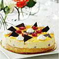 Gâteau à la mousse de citron et lemon curd.........