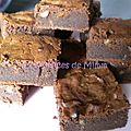 Brownies aux noix au lait concentré sucré