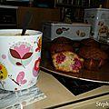 Muffins framboises et chocolat blanc