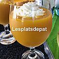 Soupe froide de <b>carotte</b>, mangue, gingembre