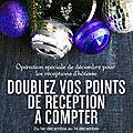En décembre, doublez vos points de réunion