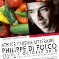 L'atelier cuisine littéraire de philippe di folco