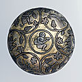 Drinking bowl, parcel-gilt silver, Iran, 6th-<b>7th</b> <b>century</b>