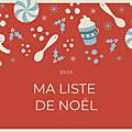 Ma liste de Noel 2020