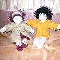 Avec le petit garçon (tricoté pour Yohann)