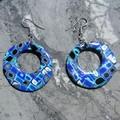Boucles rondes creuses Mosaik bleu
