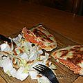 Naans thon tomate mozzarella