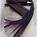 Ruban de soie shibori - shibori silk ribbon