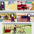 Promenade en ville: séquences audiovisuelles