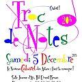 Troc de notes cabaret 2015
