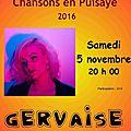 Samedi 5 novembre, place à la chanson française...