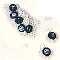 Passion crochet n°3 : ensemble boucles d'oreilles et bracelets