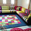 <b>Salon</b> marocain contemporain Multi coloris