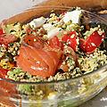 Salade printaniere vite faite