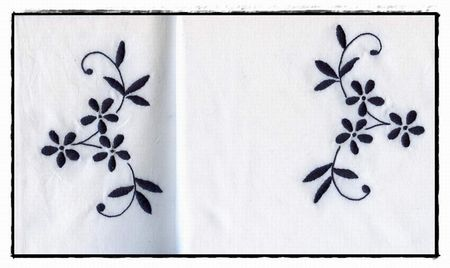 Broderie traditionnelle - 2 Taies d' Oreiller