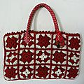 Sac pretty woman rouge et blanc