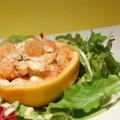 Pamplemousse et poisson en vinaigrette, sans gluten et sans lactose