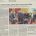 La normandie: un laboratoire d'études pour la paix internationale