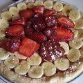 Tarte bananes fraises express
