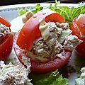 Un menu pour le mercredi des enfants – paniers de tomates au thon