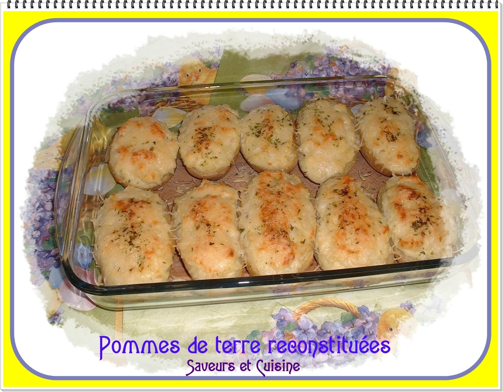 Pommes de terre au four reconstituées
