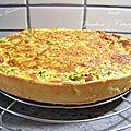 Tarte jambon/courgette